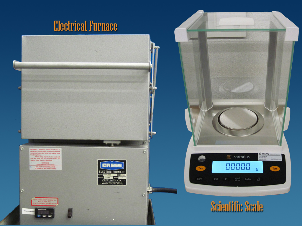 Furnace and Scale Resin Content Testing