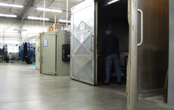 Compression molding presses and curing ovens